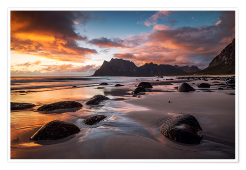 Plakat Sunset in Lofoten, Norway