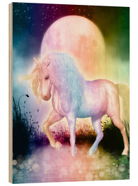 Obraz na drewnie  Unicorn, love yourself - Dolphins DreamDesign