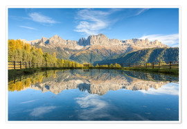 Plakat Rosengarten, Dolomites in South Tyrol