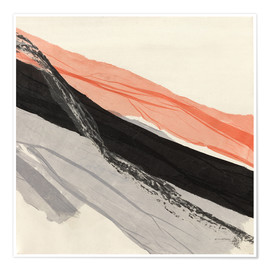 Plakat Peach and Black abstract