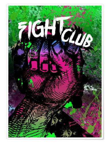 Plakat Fight Club - Minimal alternative Film Fanart #2