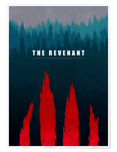 Plakat The Revenant - Minimal Film Fanart alternative