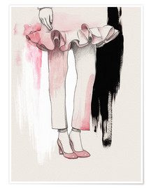 Plakat Fashion illustration Pink shoes