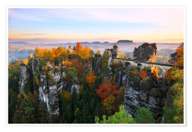 Plakat Bastei Bridge in Saxon Switzerland