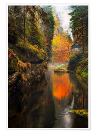 Plakat Kamnitz Gorge in the Saxon Switzerland
