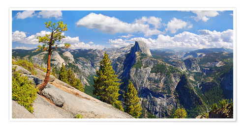 Plakat Glacier Point Yosemite Valley California USA