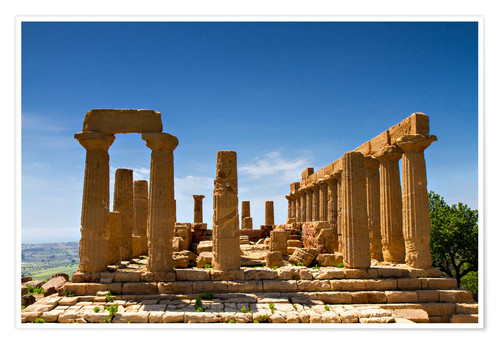 Plakat Temple of Juno, Agrigento, Sicily