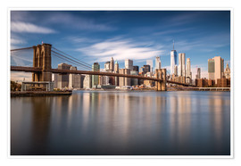 Plakat New York City - Brooklyn Bridge and Skyline