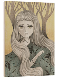 Obraz na drewnie  Ghost of the Forest - Amalia K.