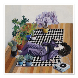 Plakat Checkers and plants