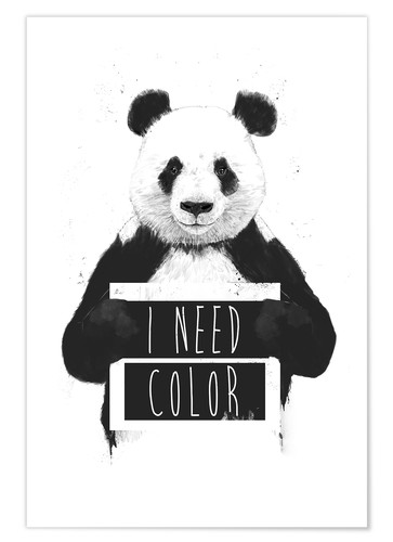 Plakat I need color