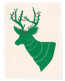 Plakat Green Stag