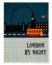 Plakat London by Night
