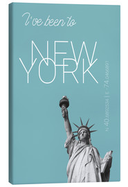 Obraz na płótnie  Popart New York Statue of Liberty I have been to Color: Light blue - campus graphics
