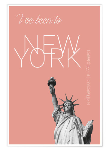 Plakat Popart New York Statue of Liberty I have been to Color: blooming dahlia