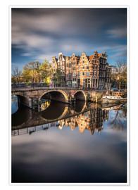 Plakat Amsterdam during morning light