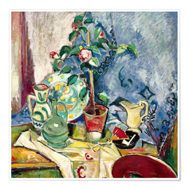 Plakat Still life with camelia