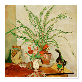 Plakat Still life with leaf plant