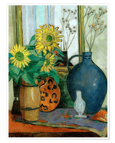 Plakat Sunflowers with Matisse shell
