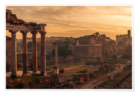Plakat Rome : the Temple of Saturn