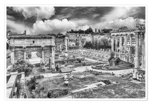 Plakat ruins of the Roman Forum in Rome