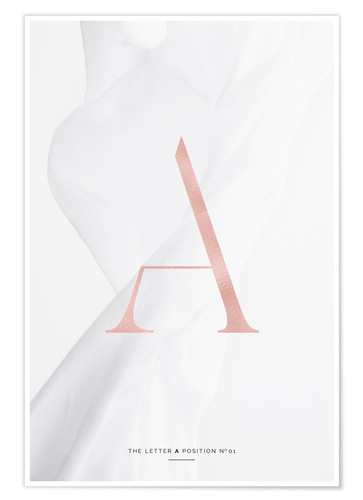 Plakat ROSE GOLD LETTER COLLECTION A
