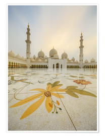 Plakat Courtyard of Sheikh Zayed Grand Mosque