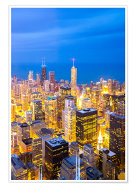 Plakat Chicago City at night