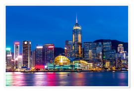Plakat Hong Kong famous night view