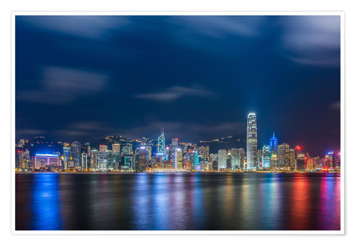 Plakat Hong Kong at night