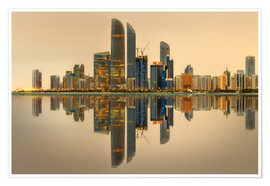 Plakat Abu Dhabi skyline at sunrise