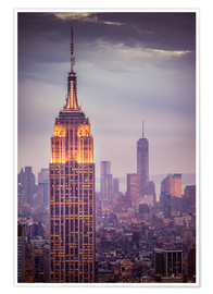 Plakat Empire State Building New York