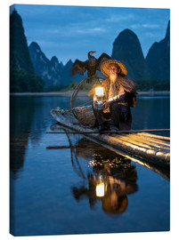 Obraz na płótnie  Old cormorant fisherman in Guilin, China - Jan Christopher Becke