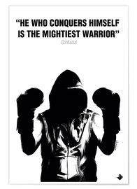 Plakat WARRIOR Motivational Quotes