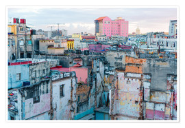 Plakat  Authentic view of a street of Old Havana