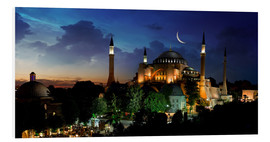 Obraz na PCV  View of Hagia Sophia after sunset