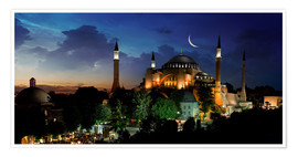 Plakat View of Hagia Sophia after sunset