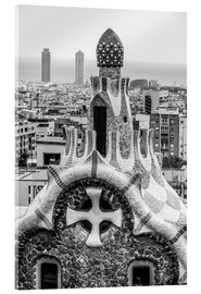 Obraz na szkle akrylowym  Impressive architecture and mosaic art at Park Guell