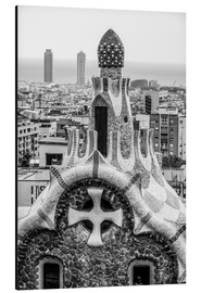 Obraz na aluminium  Impressive architecture and mosaic art at Park Guell