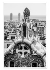Plakat  Impressive architecture and mosaic art at Park Guell