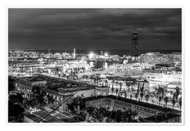 Plakat  Beautiful view over the Port of Barcelona