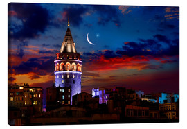 Obraz na płótnie  Illuminated Galata Tower