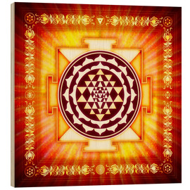 Obraz na drewnie  Sri Yantra Energy Light - Dirk Czarnota