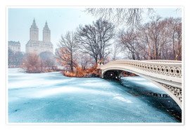 Plakat Central Park Winter, Bow Bridge