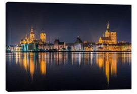 Obraz na płótnie  Skyline of Stralsund at night - Kristian Goretzki