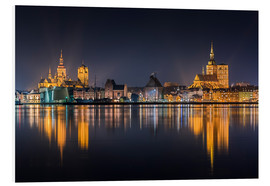 Obraz na PCV  Skyline of Stralsund at night - Kristian Goretzki