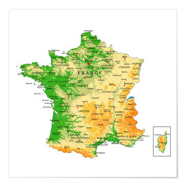 Plakat  Map of France
