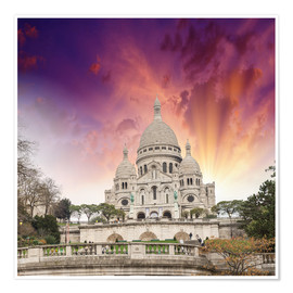 Plakat  Sacred Heart Cathedral in Montmartre