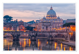 Plakat  The Basilica of the Vatican of St. Peter