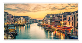 Plakat Grand Canal at the blue hour